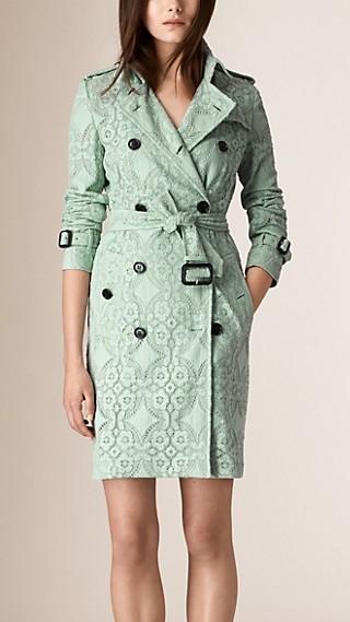 Gabardine Lace Trench Coat