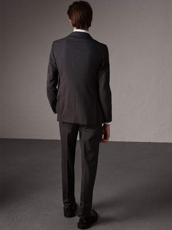 Soho Fit Check Wool Suit in Blackcurrant - Men | Burberry United Kingdom - cell image 2