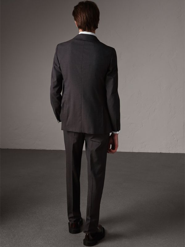 Soho Fit Check Wool Suit in Blackcurrant - Men | Burberry - cell image 2