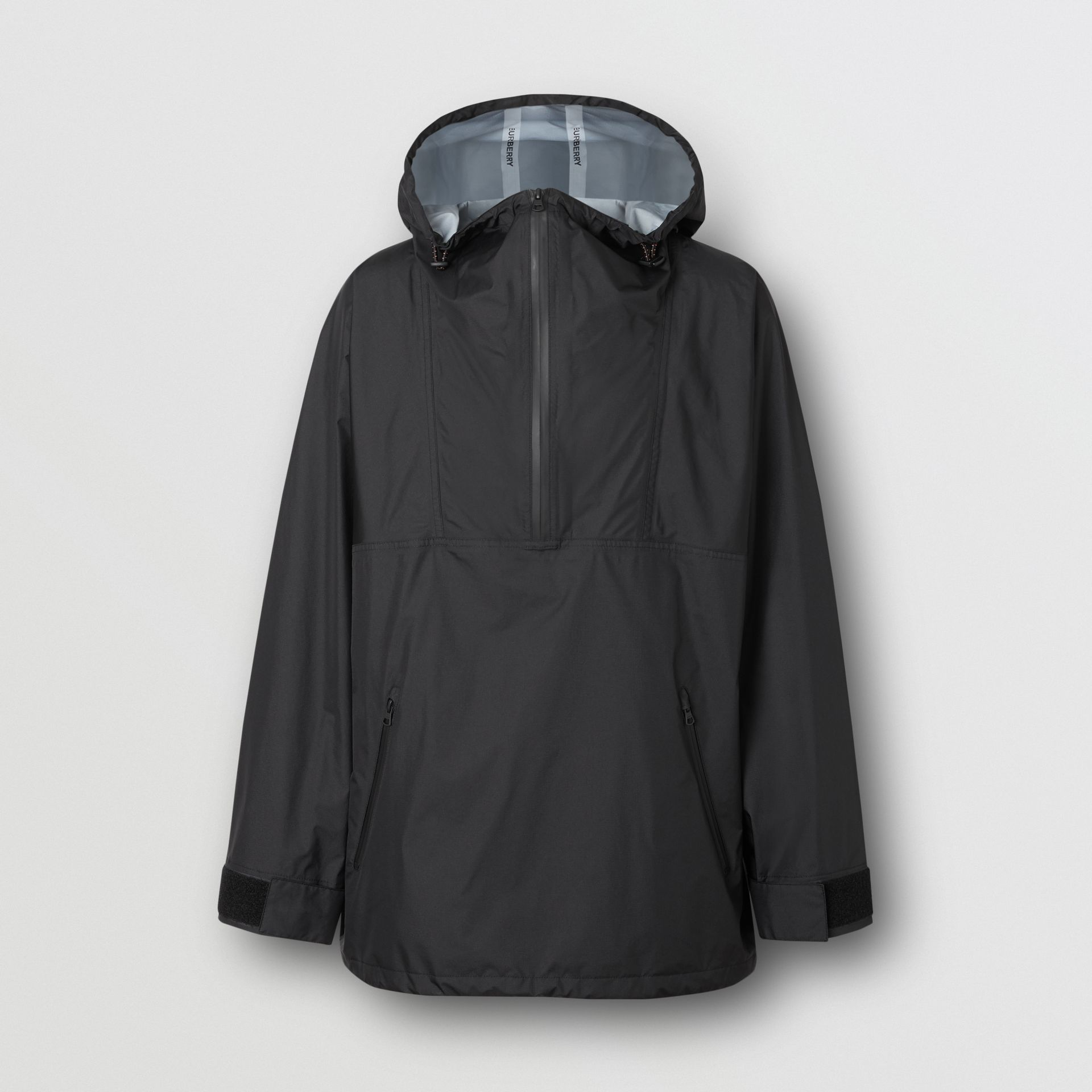 Logo Print Lightweight Cagoule in Black - Men | Burberry - gallery image 3