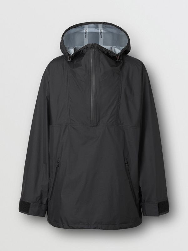 Logo Print Lightweight Cagoule in Black - Men | Burberry United States - cell image 3