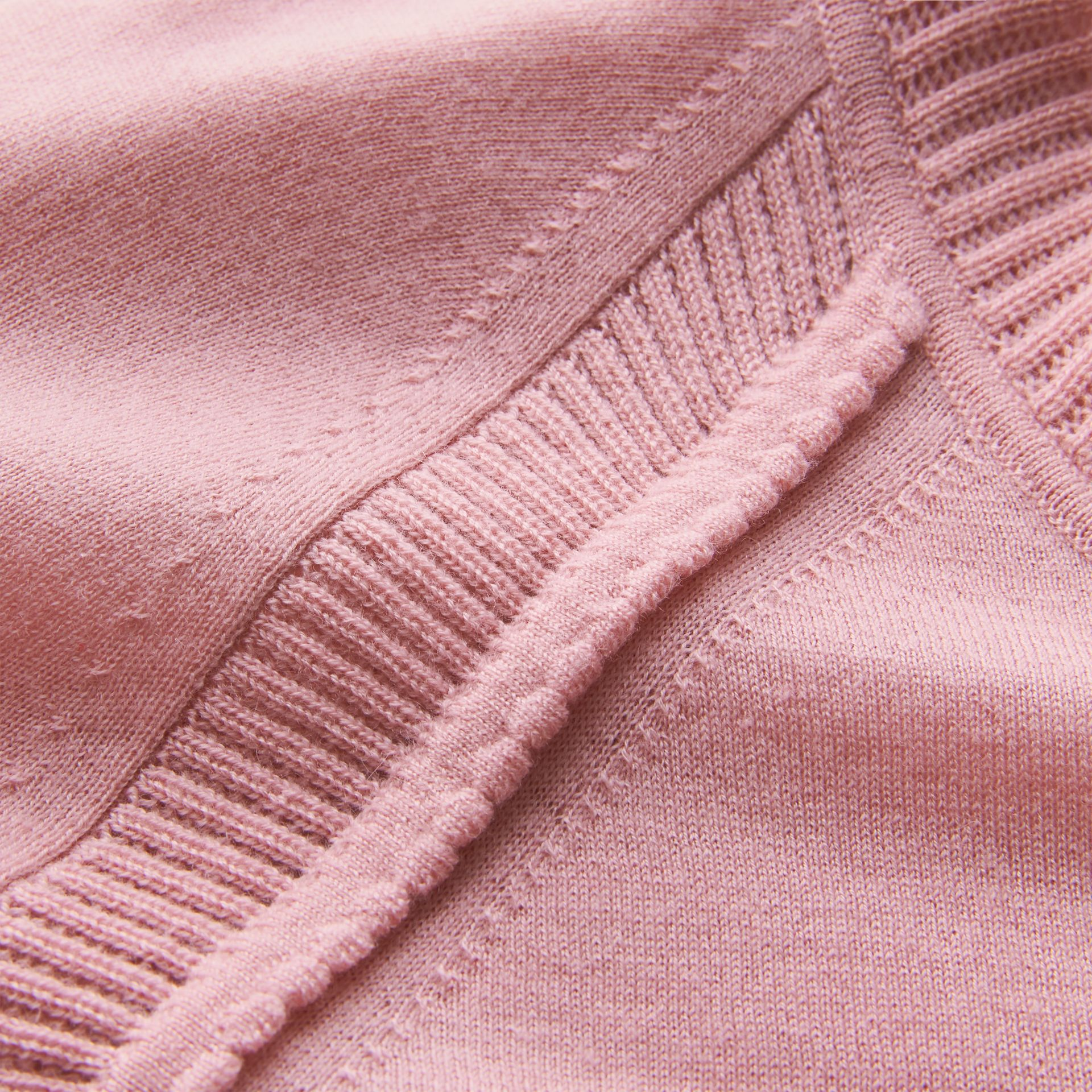 Open-knit Detail Cashmere Cardigan in Apricot Pink - Women | Burberry - gallery image 2