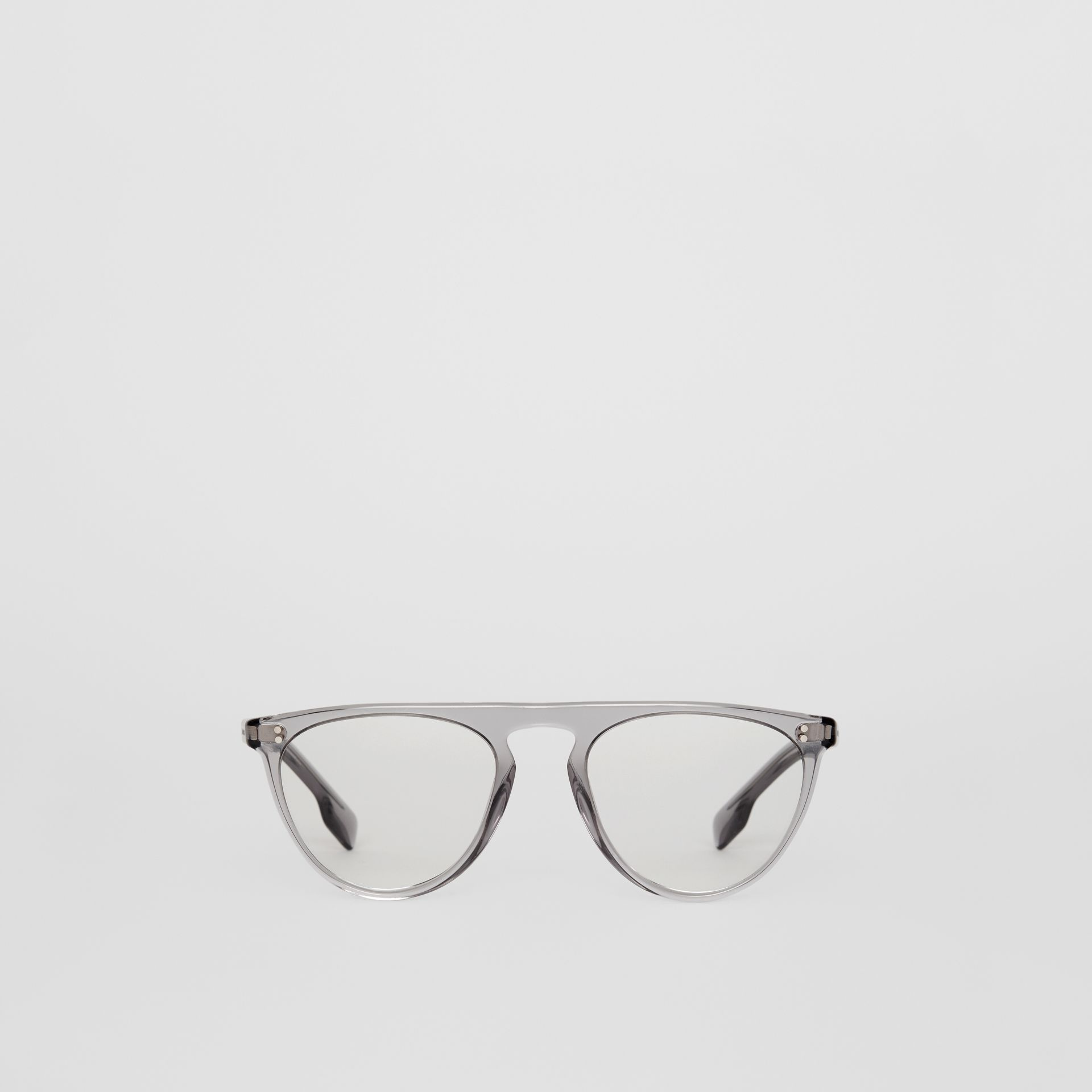 Keyhole D-shaped Optical Frames in Grey - Men | Burberry Australia - gallery image 0