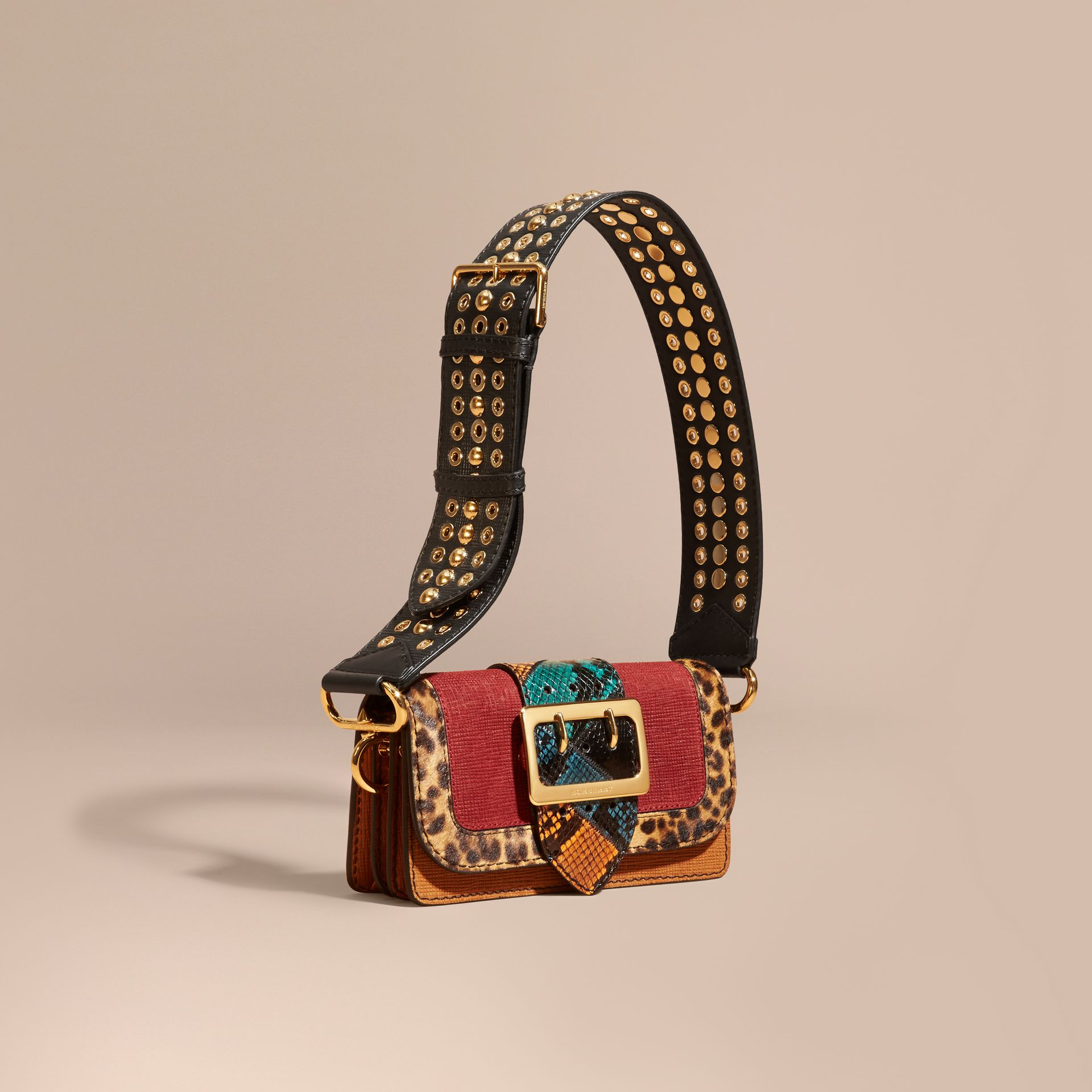 The Patchwork in Textured Suede and Leopard-print Calfskin - gallery image 1