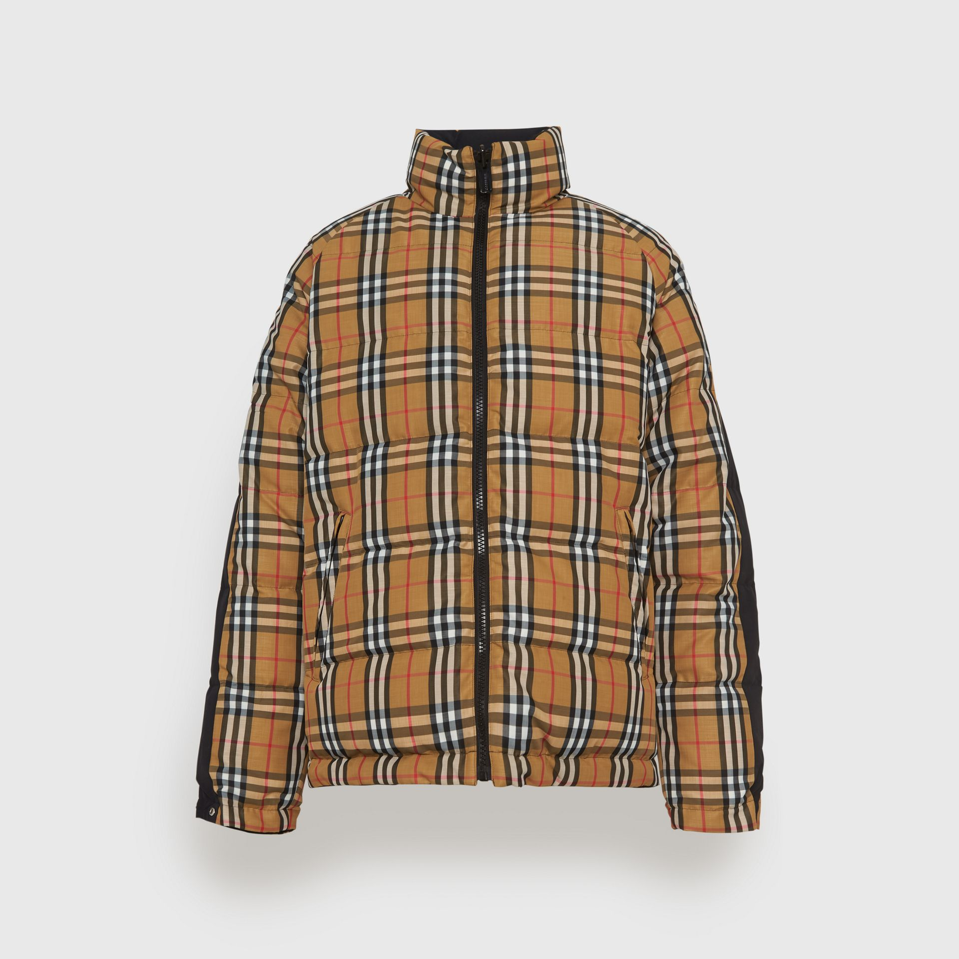 Reversible Vintage Check Down-filled Puffer Jacket in Antique Yellow - Men | Burberry - gallery image 3