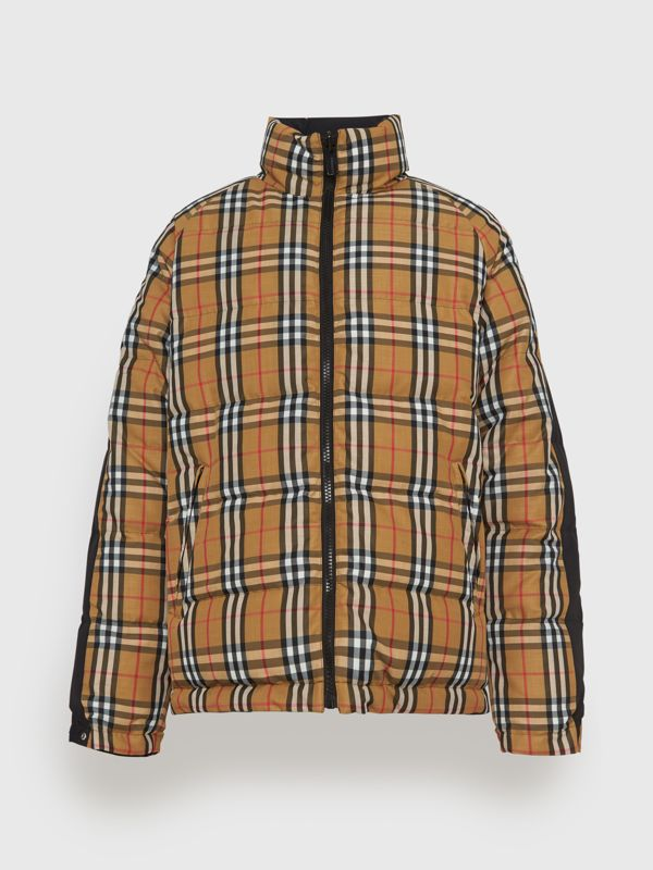Reversible Vintage Check Down-filled Puffer Jacket in Antique Yellow - Men | Burberry - cell image 3