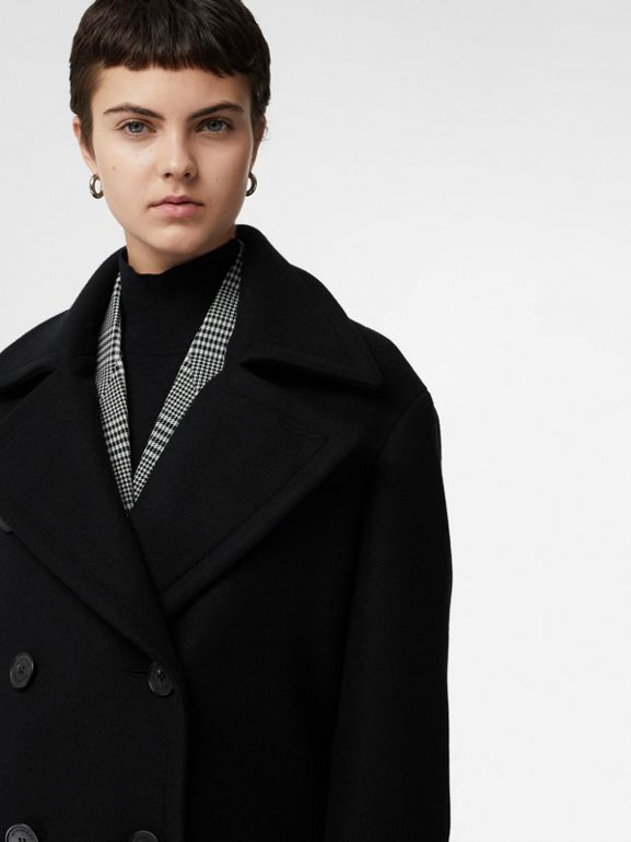 Double-faced Cashmere Tailored Coat in Black - Women | Burberry United Kingdom - cell image 1