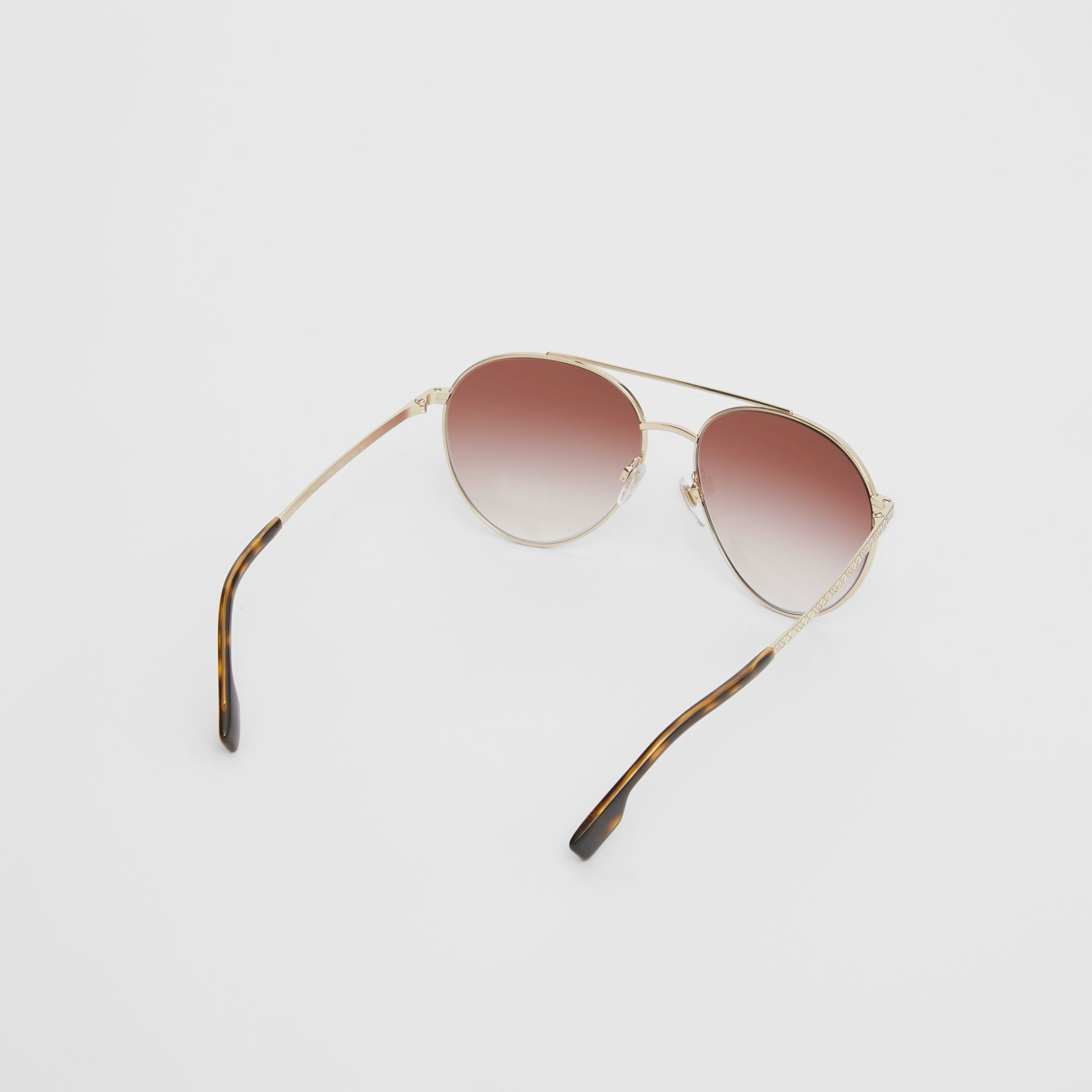 Pilot Sunglasses in Light Pink - Women | Burberry United Kingdom - gallery image 3