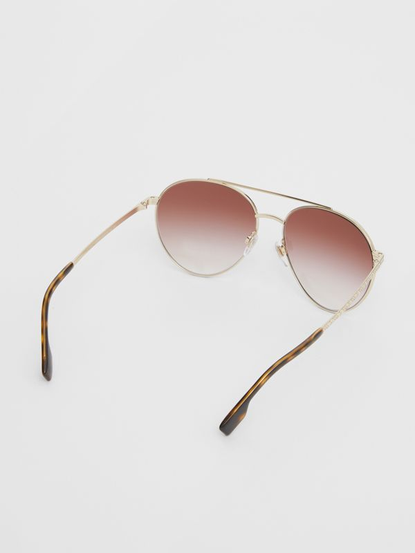 Pilot Sunglasses in Light Pink - Women | Burberry United Kingdom - cell image 3