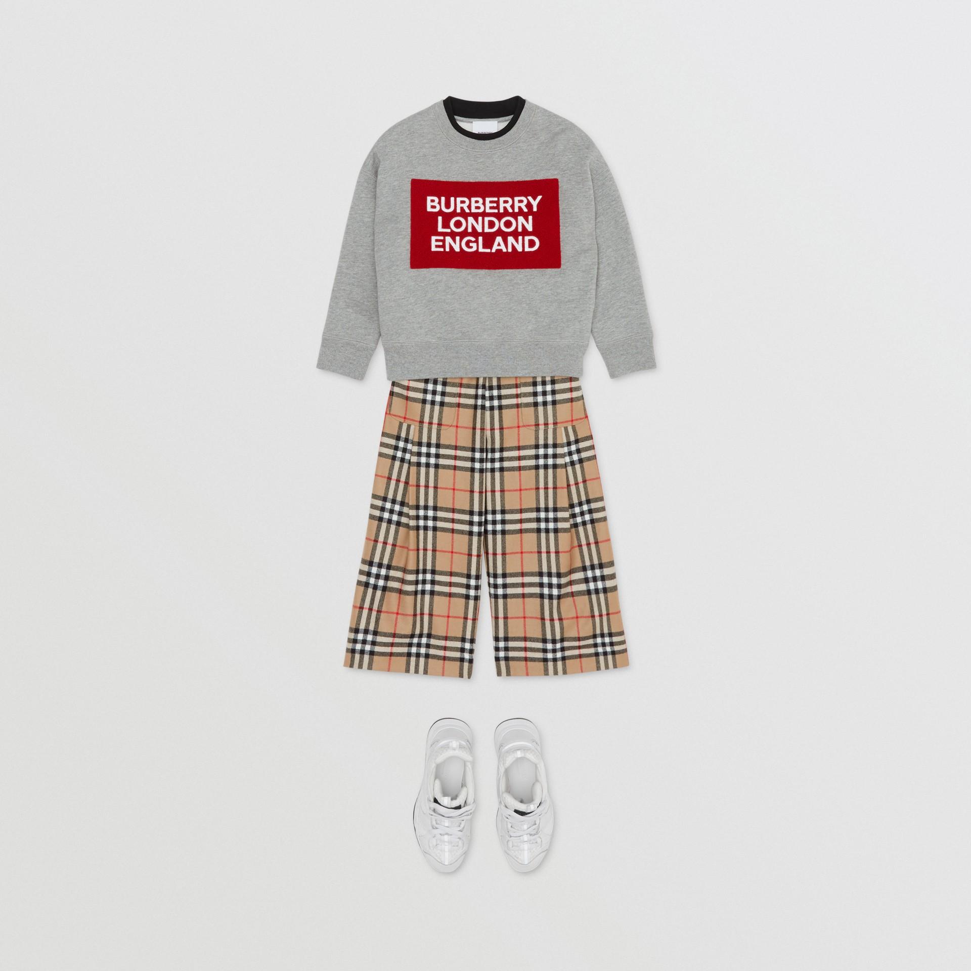 Baumwollsweatshirt mit Logo (Grau Meliert) | Burberry - Galerie-Bild 2