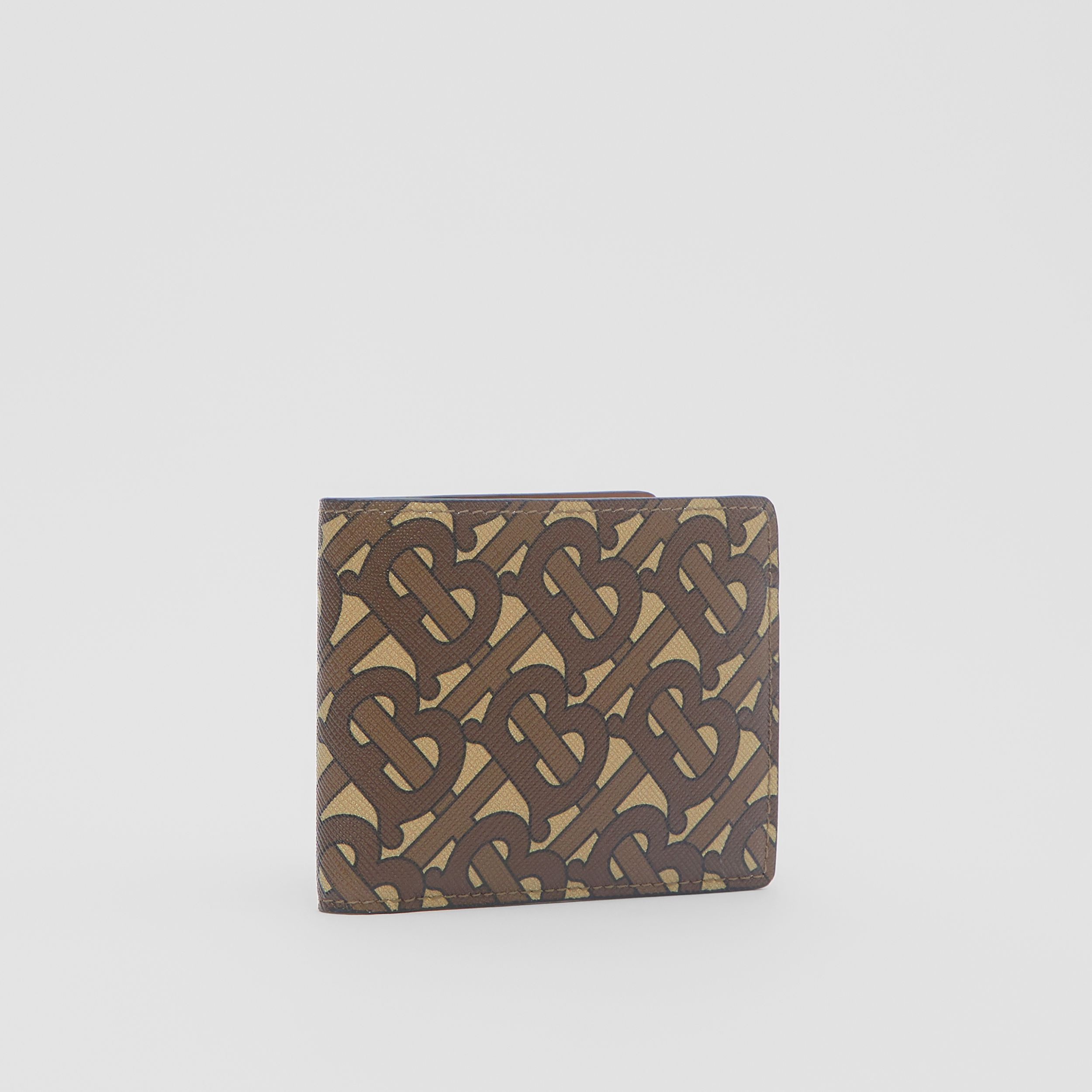Monogram Print E-canvas Bifold Wallet in Bridle Brown - Men | Burberry - 4
