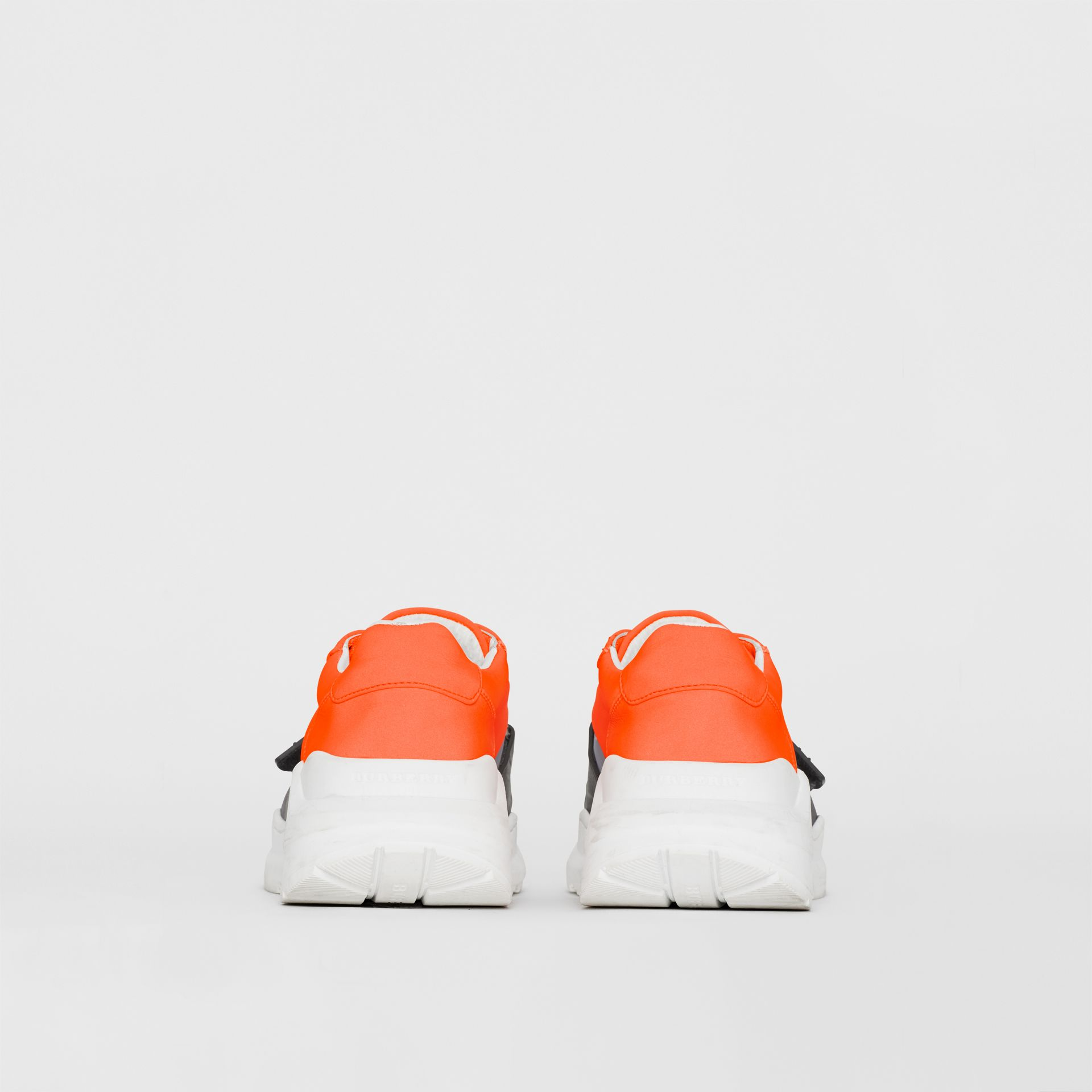 Colour Block Sneakers in Silver Grey/orange - Women | Burberry - gallery image 3