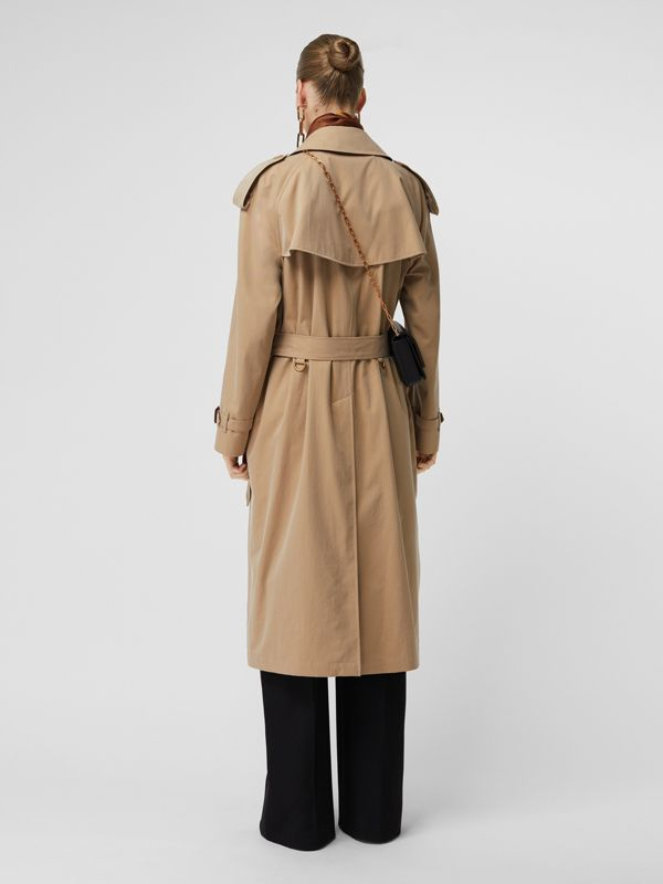 The Long Westminster Heritage Trench Coat in Honey - Women | Burberry - cell image 2
