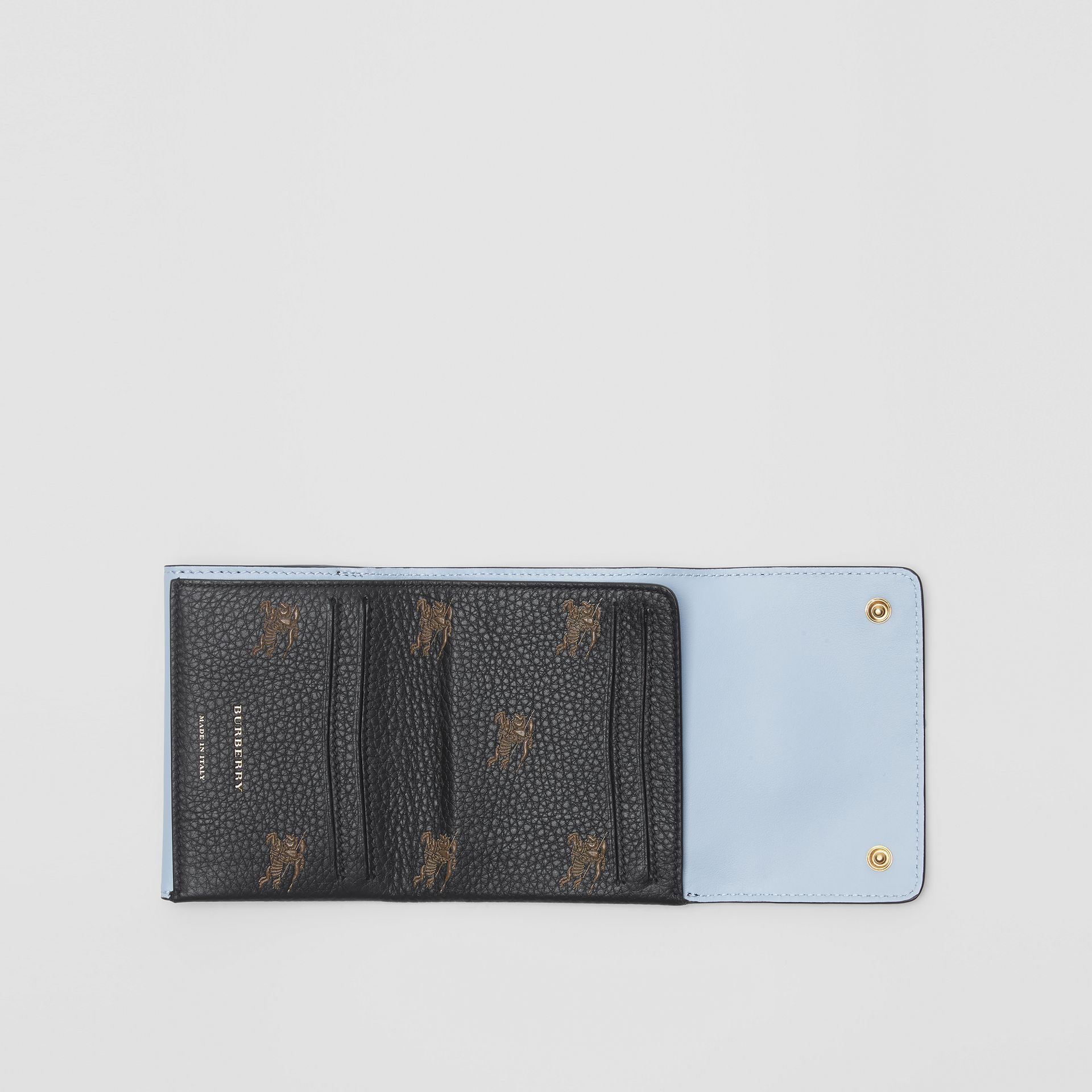 Small EKD Leather Wallet in Black - Women | Burberry - gallery image 3