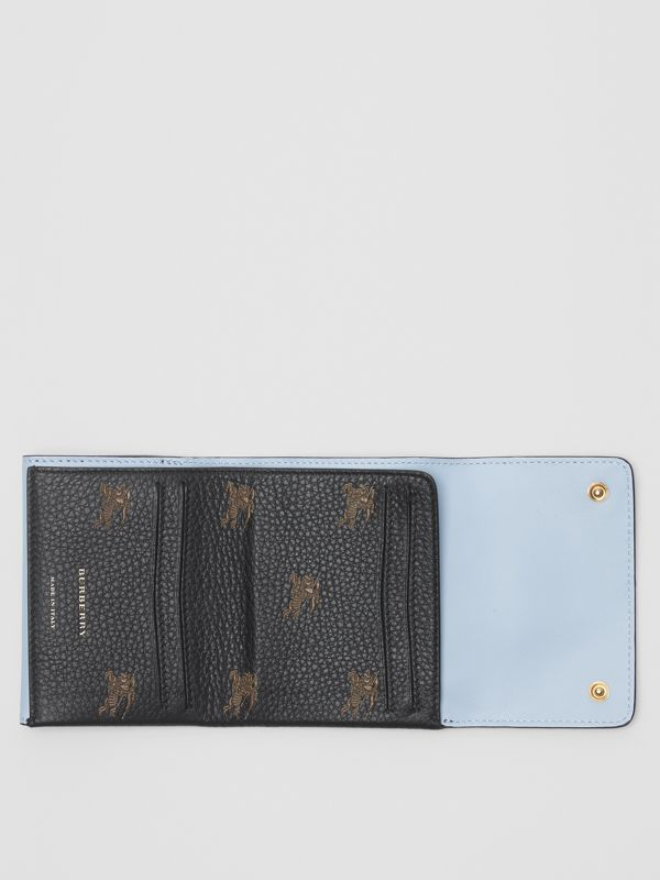 Small EKD Leather Wallet in Black - Women | Burberry - cell image 3