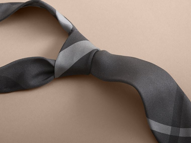 Modern Cut Beat Check Silk Tie - Men | Burberry Australia - cell image 1