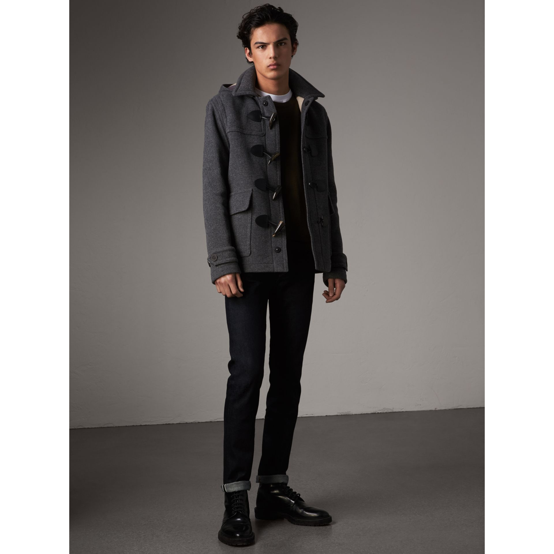 Jean slim en denim selvedge japonais extensible (Indigo Sombre) - Homme | Burberry - photo de la galerie 6