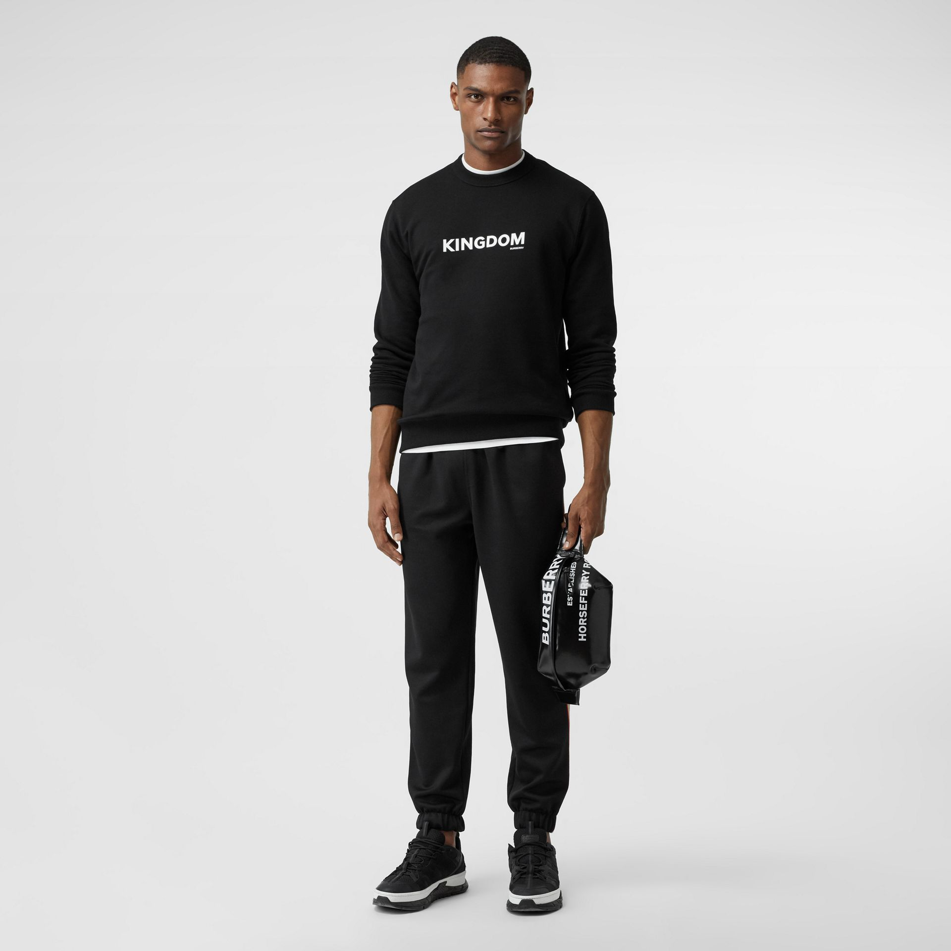 Sweat-shirt en coton Kingdom (Noir) - Homme | Burberry Canada - photo de la galerie 0