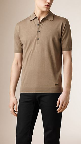 Knitted Silk Cashmere Polo Shirt