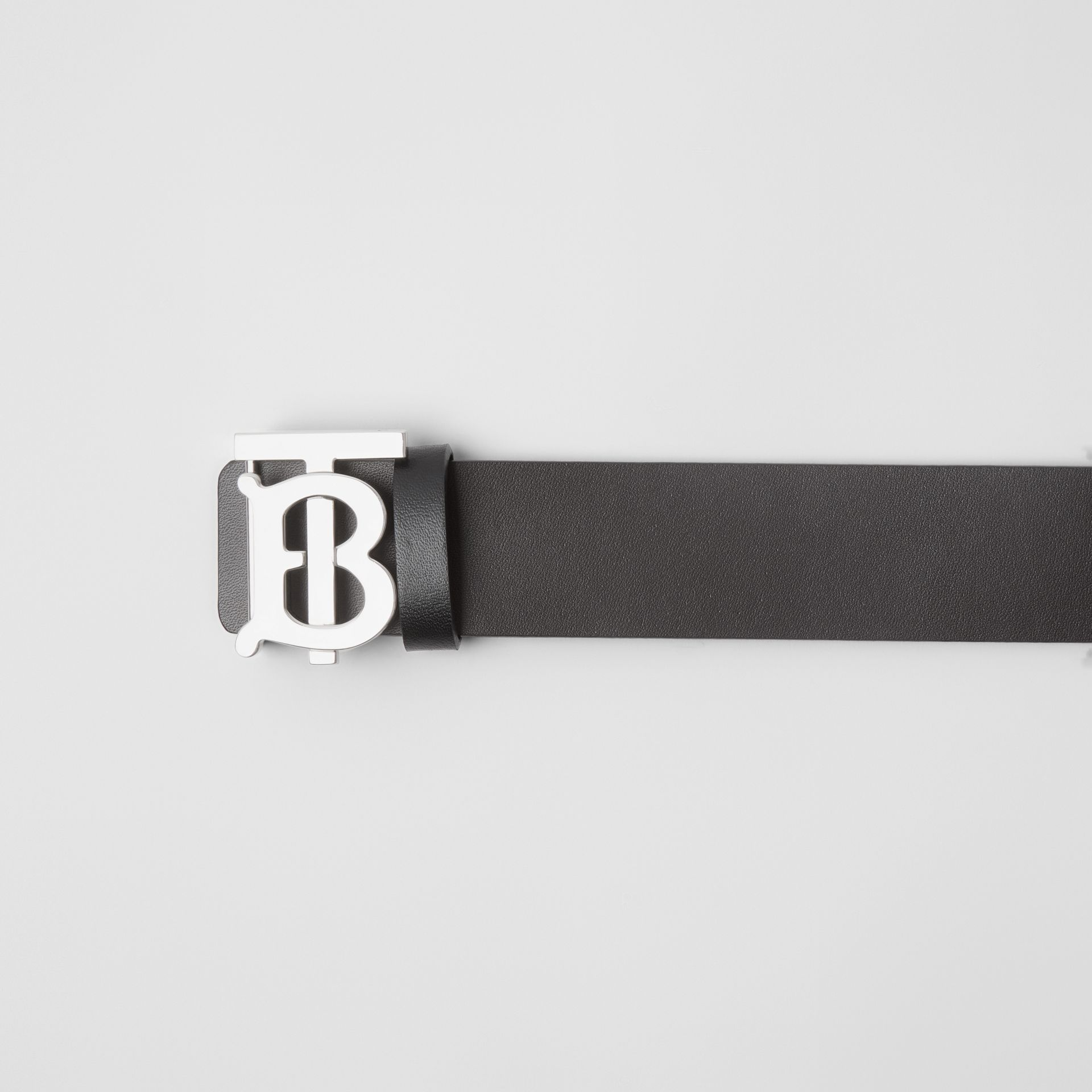 Reversible Monogram Motif Leather Belt in Black/malt Brown - Men | Burberry - gallery image 1