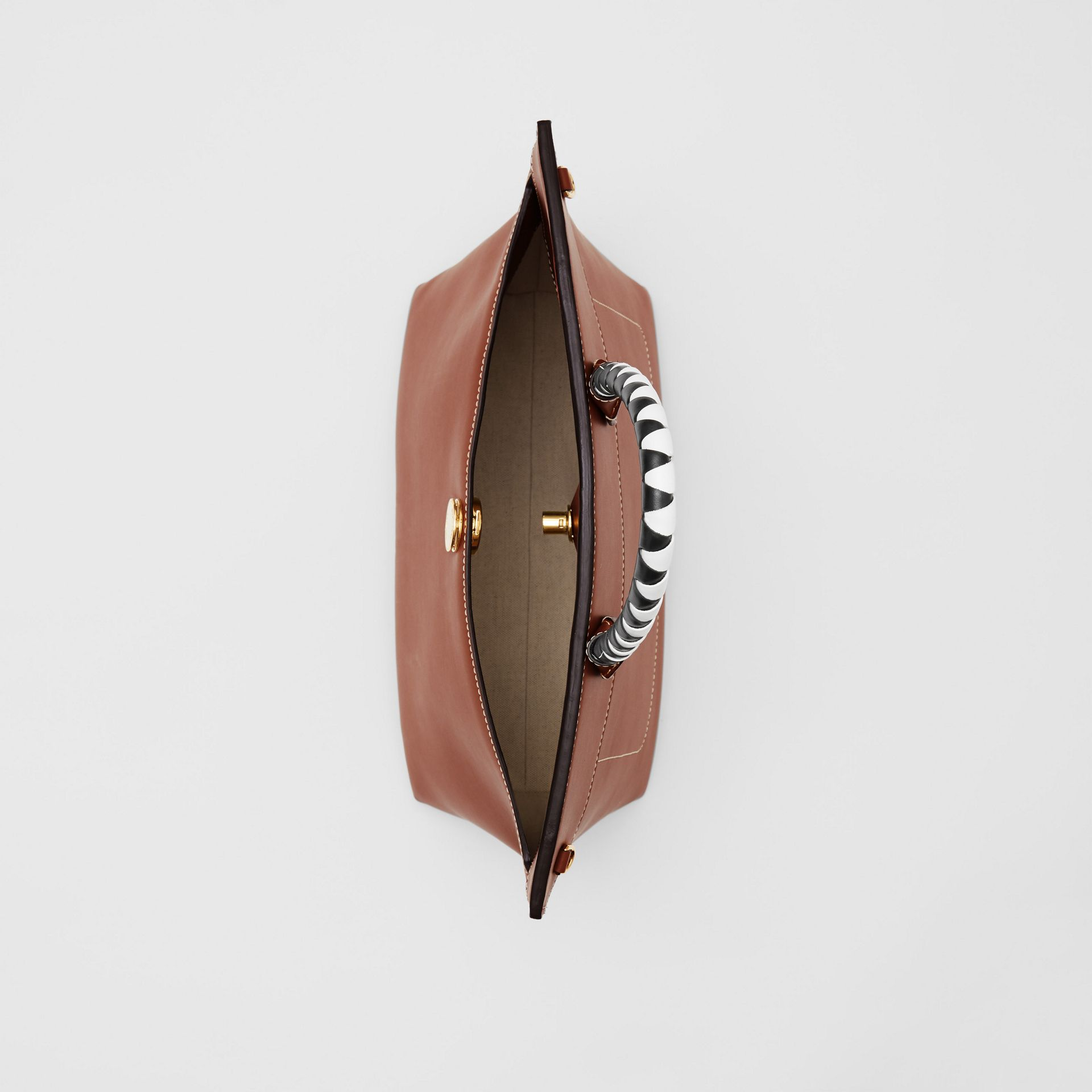 Small Leather Society Top Handle Bag in Tan - Women | Burberry - gallery image 4