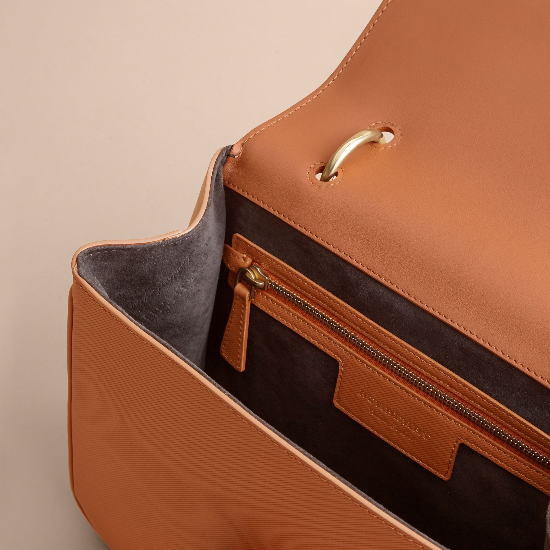 The Medium DK88 Top Handle Bag — Online Exclusive in Bright Toffee - Women | Burberry United Kingdom - gallery image 3