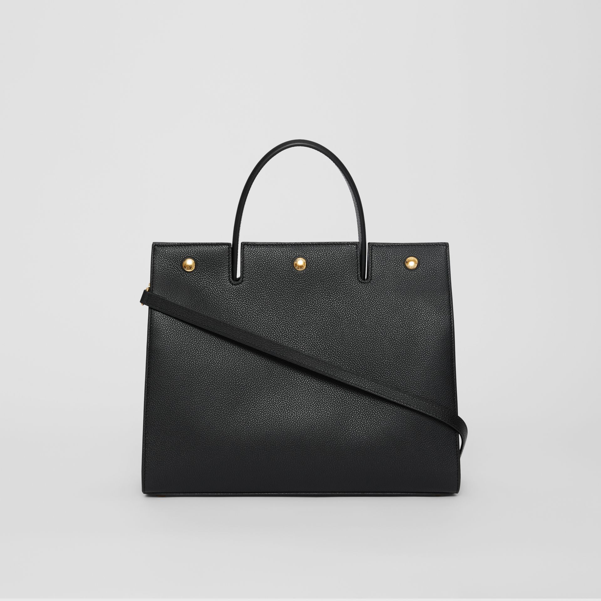 Medium Leather Title Bag in Black - Women | Burberry United Kingdom - gallery image 7