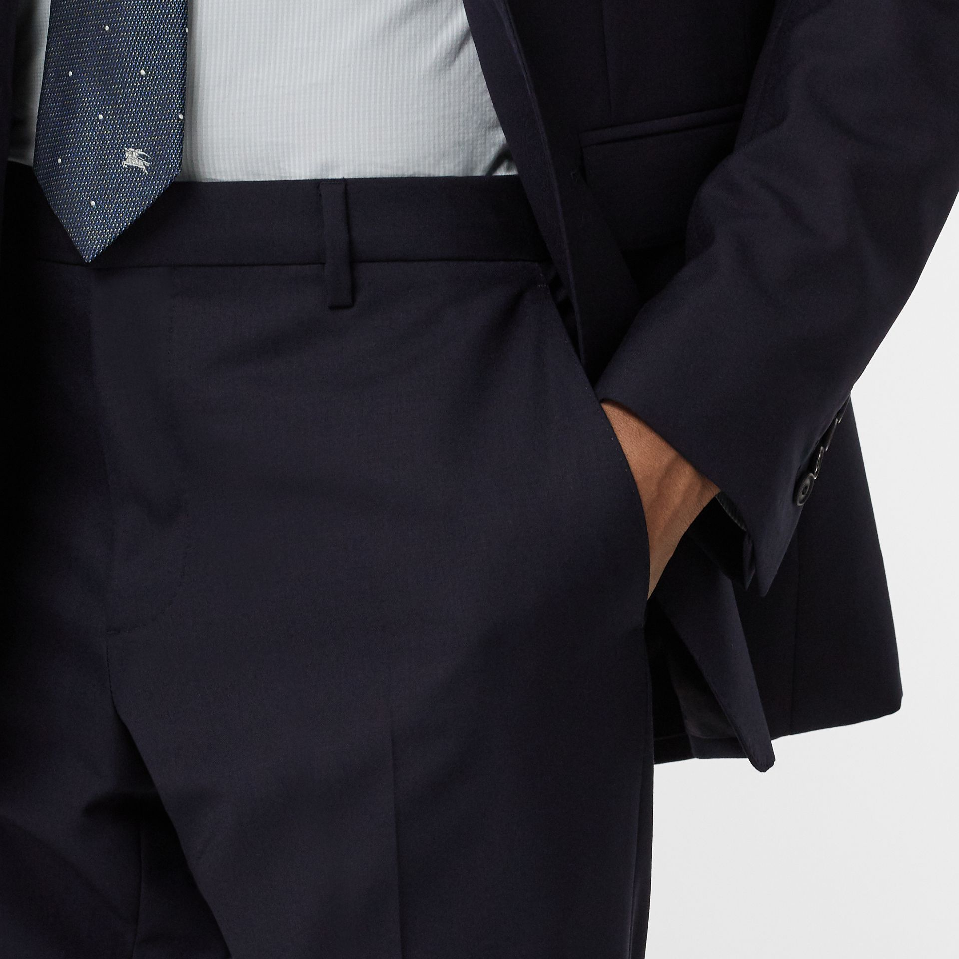 Modern Fit Wool Suit in Navy - Men | Burberry - gallery image 3
