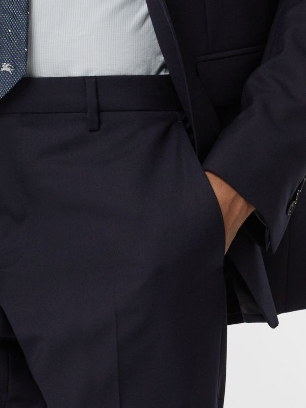 Modern Fit Wool Suit in Navy - Men | Burberry - cell image 3