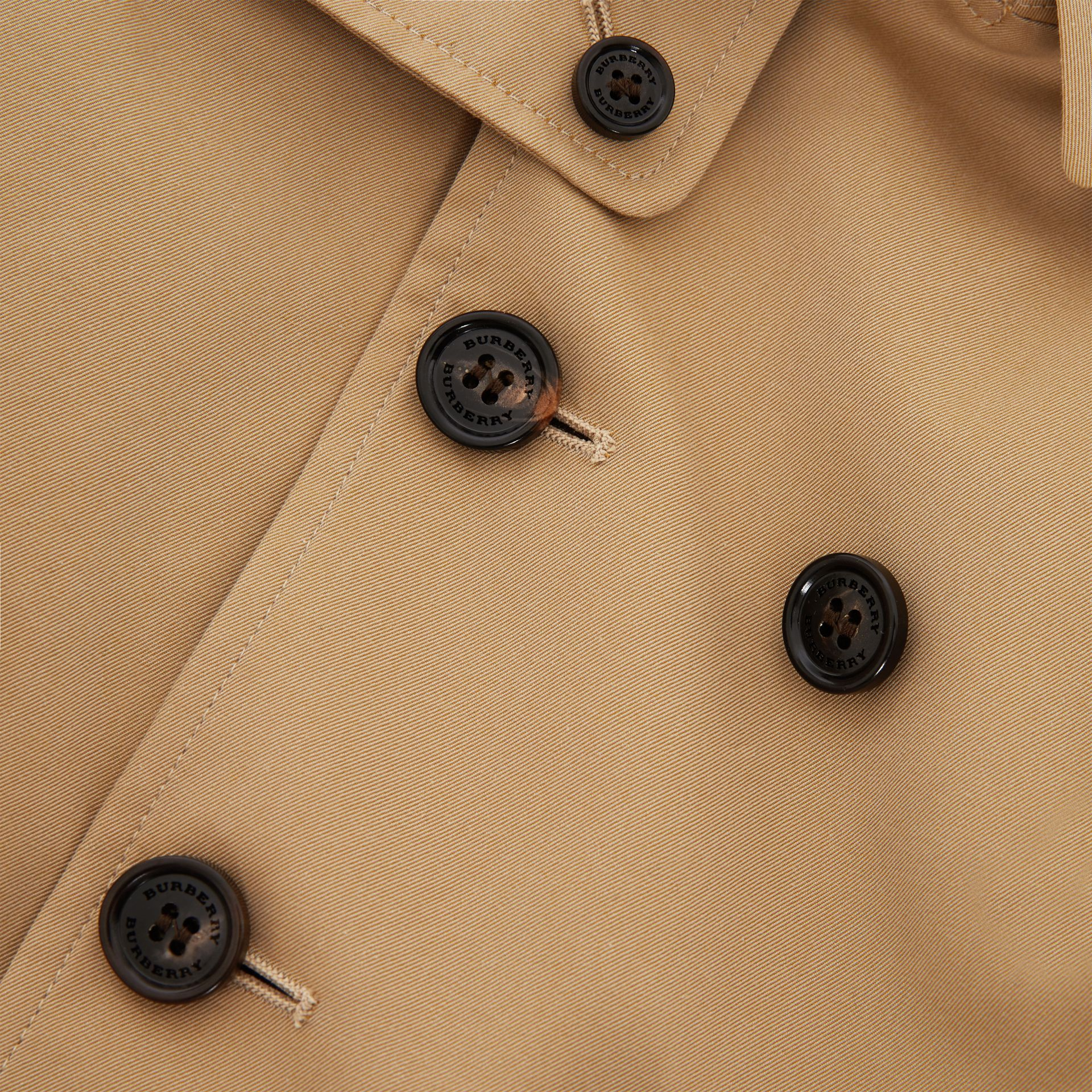Cotton Gabardine Trench Coat in Honey - Children | Burberry - gallery image 1