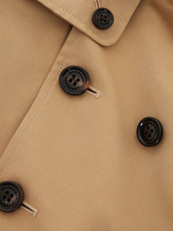 Cotton Gabardine Trench Coat in Honey - Children | Burberry Australia - cell image 1