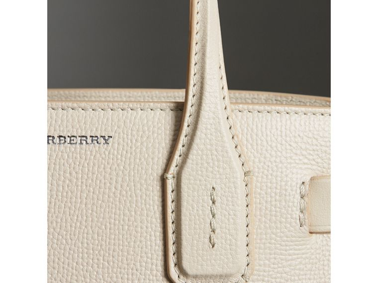 The Small Banner in Leather in Limestone - Women | Burberry Australia - cell image 1