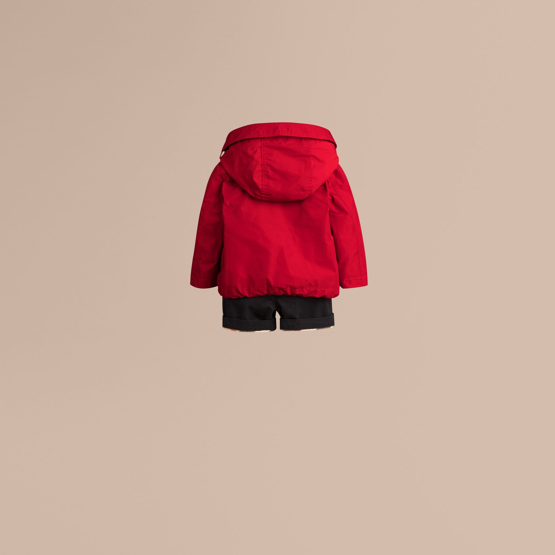 Hooded Technical Jacket Military Red - gallery image 3