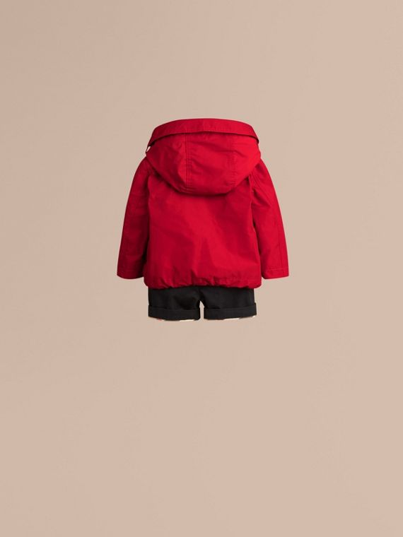 Military red Hooded Technical Jacket - cell image 3