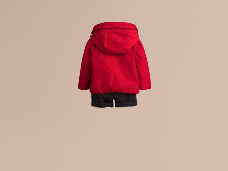 Military red Hooded Technical Jacket Military Red - cell image 2