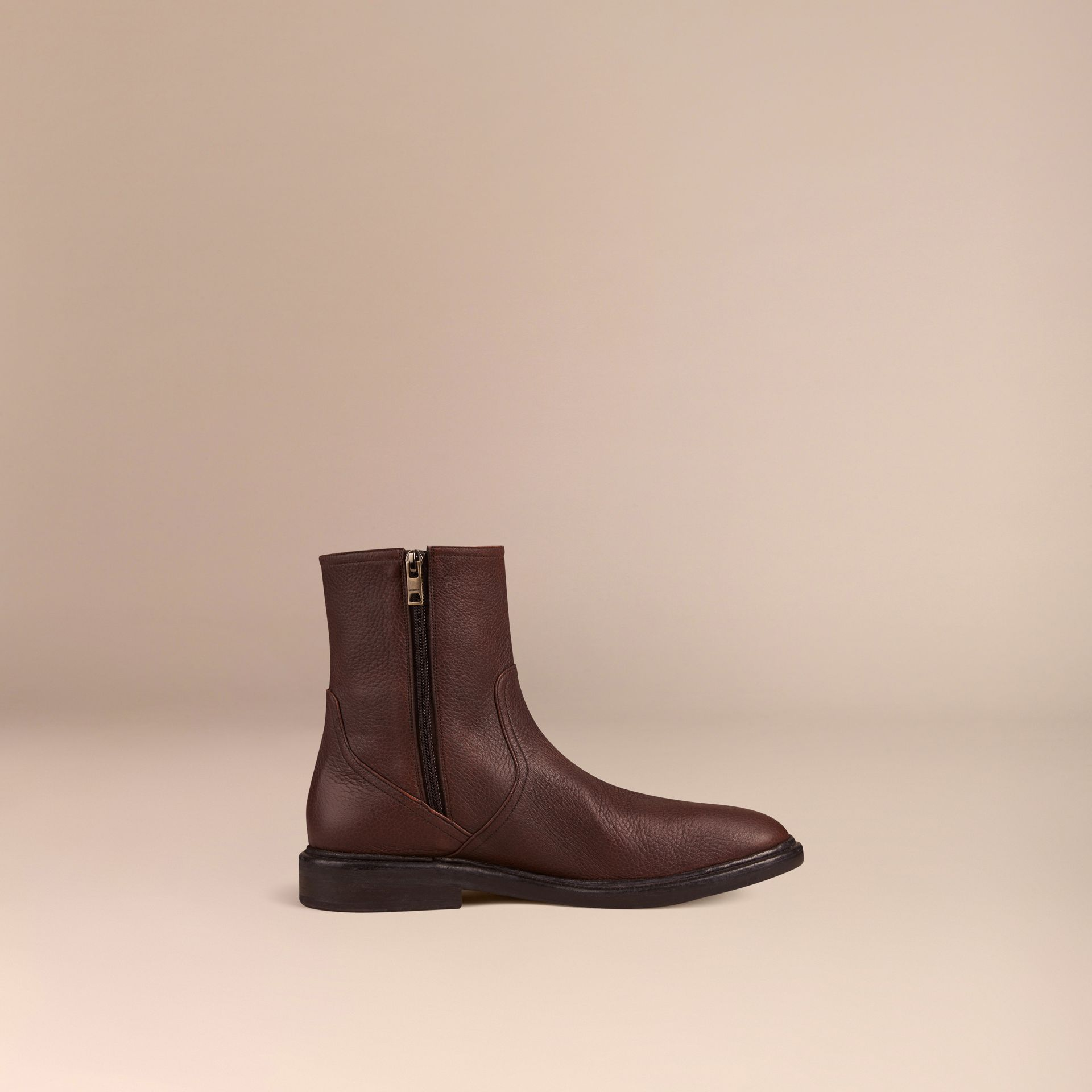 Bitter chocolate Deerskin Boots - gallery image 3