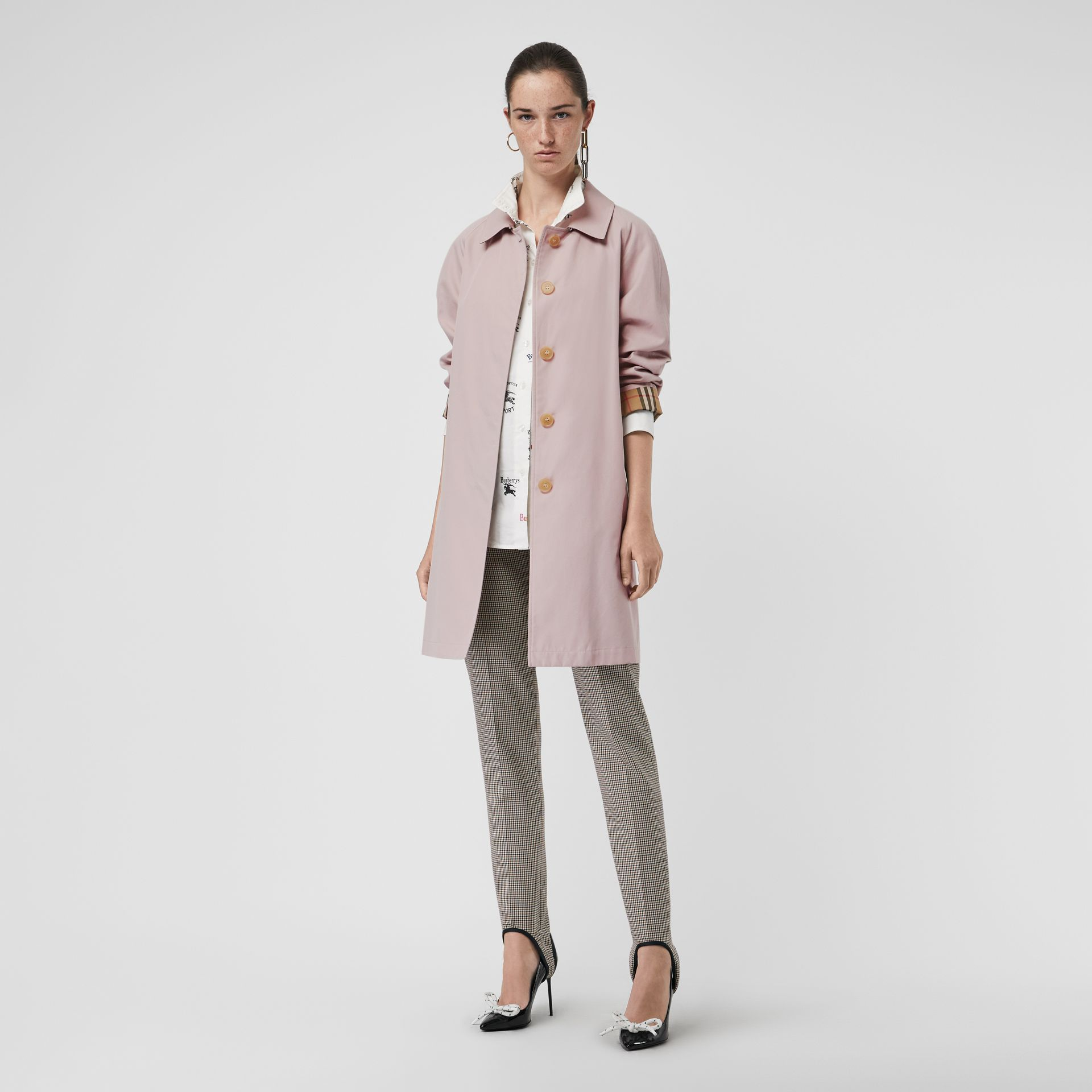 The Camden Car Coat in Ice Pink - Women | Burberry United Kingdom - gallery image 0