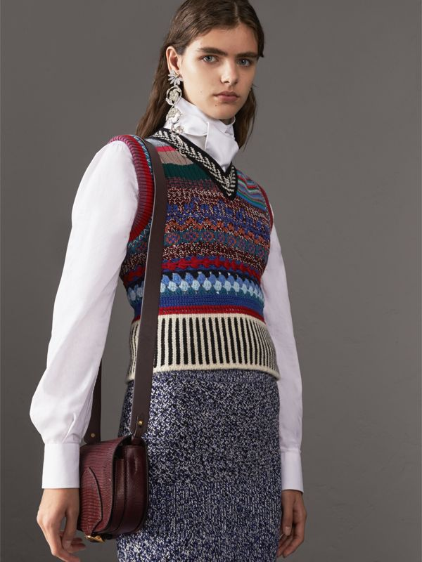 The Satchel aus Waranleder (Dunkles Mahagonirot) - Damen | Burberry - cell image 3