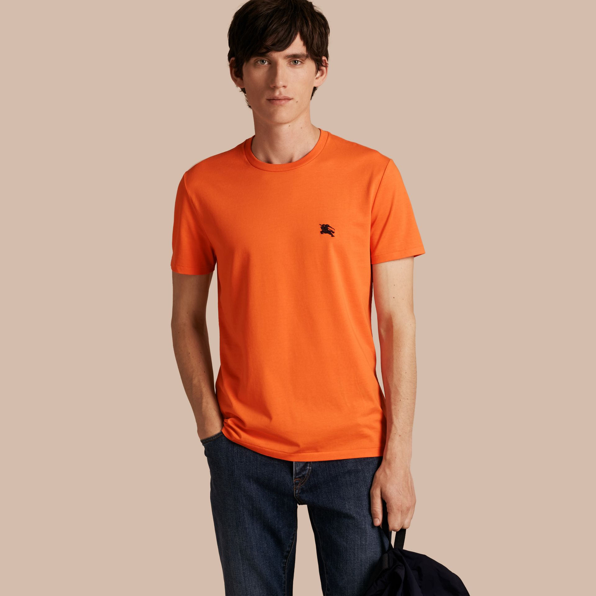 Liquid-soft Cotton T-Shirt Clementine - gallery image 1