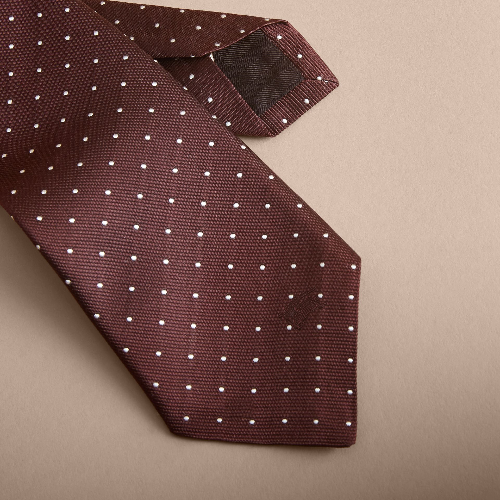 Modern Cut Polka Dot Silk Twill Tie - Men | Burberry - gallery image 2