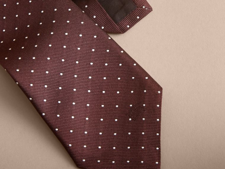 Modern Cut Polka Dot Silk Twill Tie - Men | Burberry - cell image 1