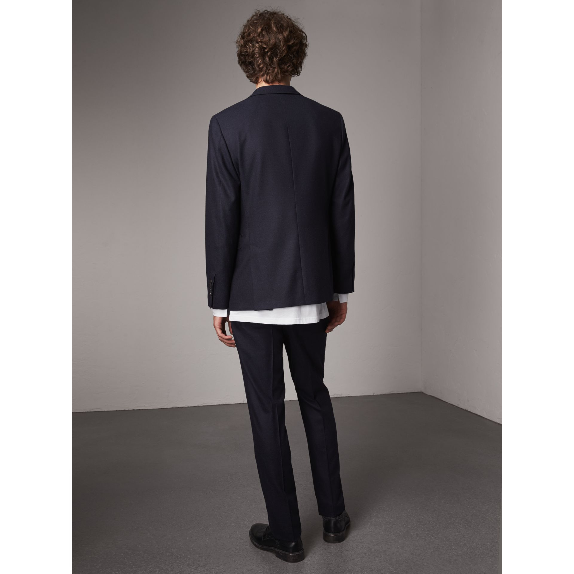 Soho Fit Wool Flannel Suit in Navy Melange - Men | Burberry Australia - gallery image 3