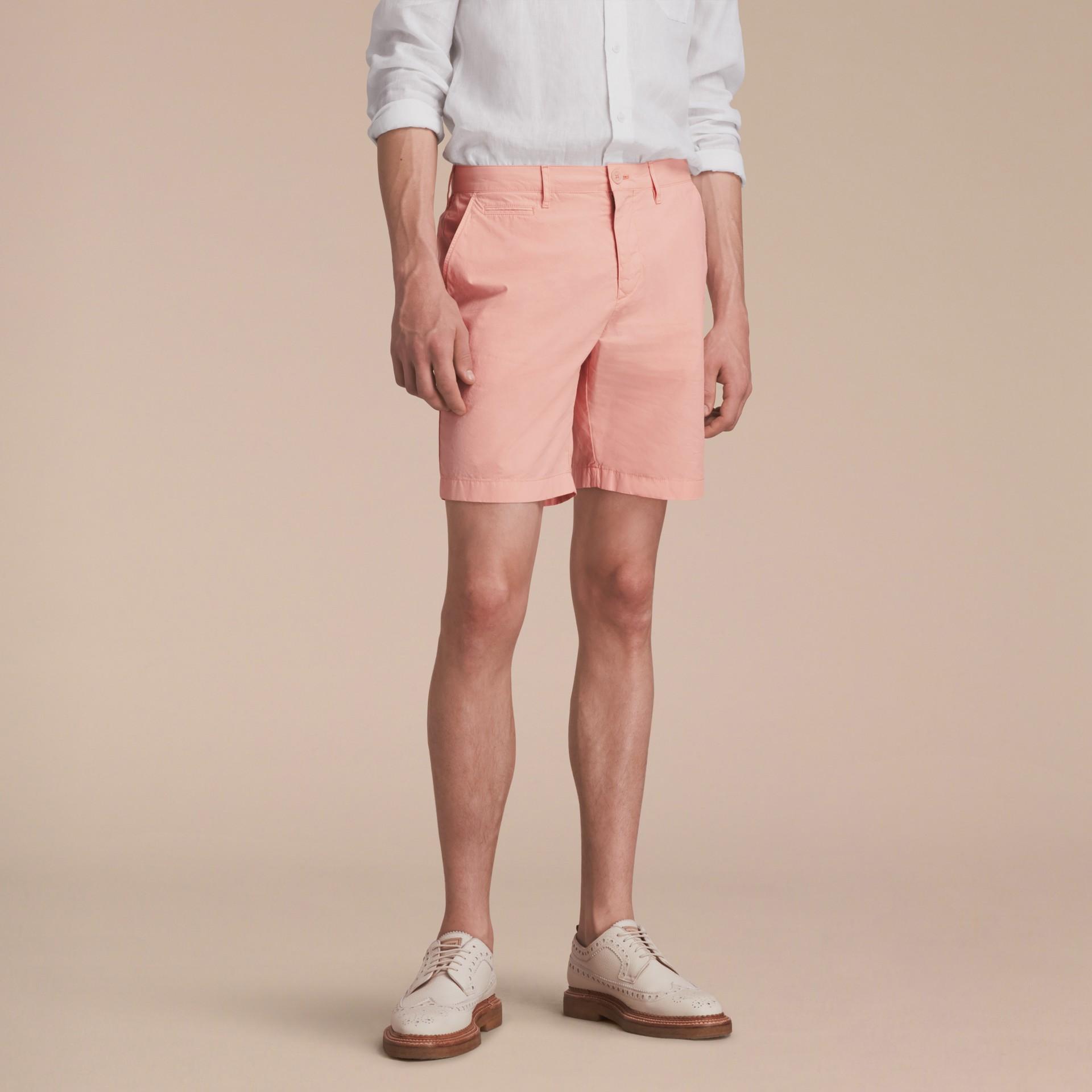 Cotton Poplin Chino Shorts Apricot Pink - gallery image 6