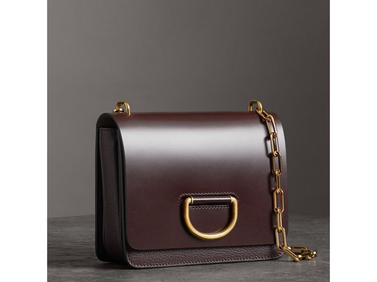 The Small Leather D-ring Bag in Deep Claret - Women | Burberry - cell image 4