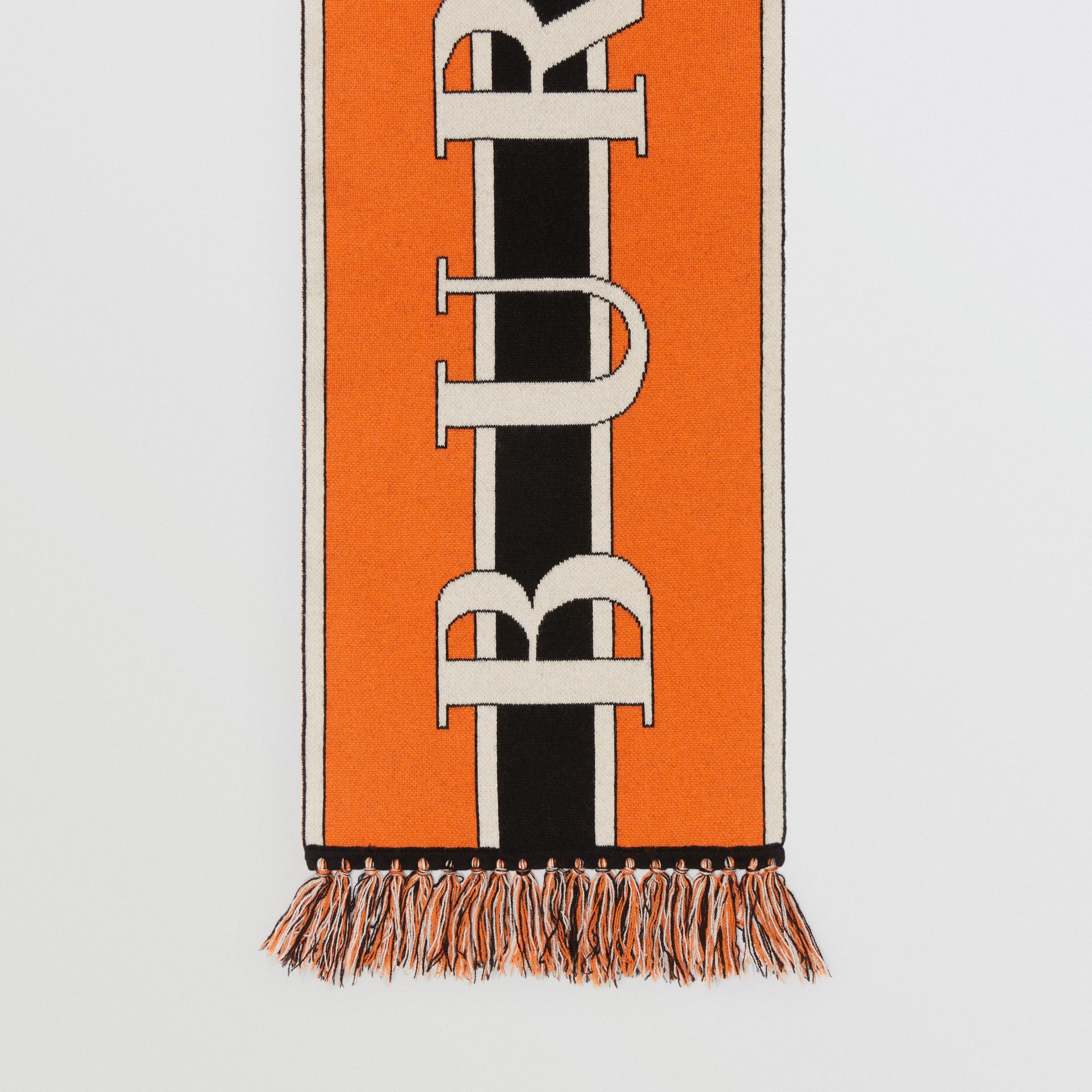 Logo Cashmere Scarf in Multicolour | Burberry United Kingdom - gallery image 3