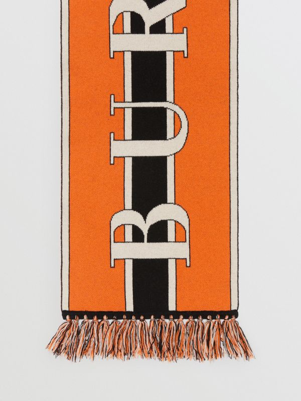 Logo Cashmere Scarf in Multicolour | Burberry United Kingdom - cell image 3