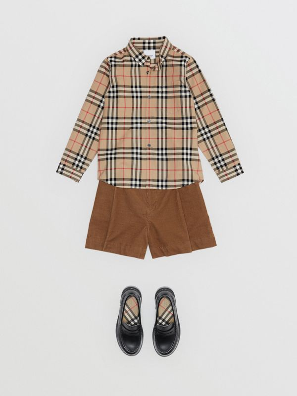 Vintage Check Cotton Poplin Shirt in Archive Beige - Boy | Burberry - cell image 2