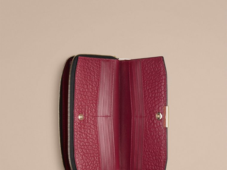 Dark plum Signature Grain Leather Ziparound Wallet Dark Plum - cell image 1