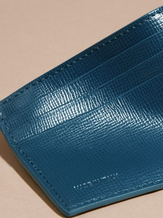 London Leather Card Case in Mineral Blue - cell image 2