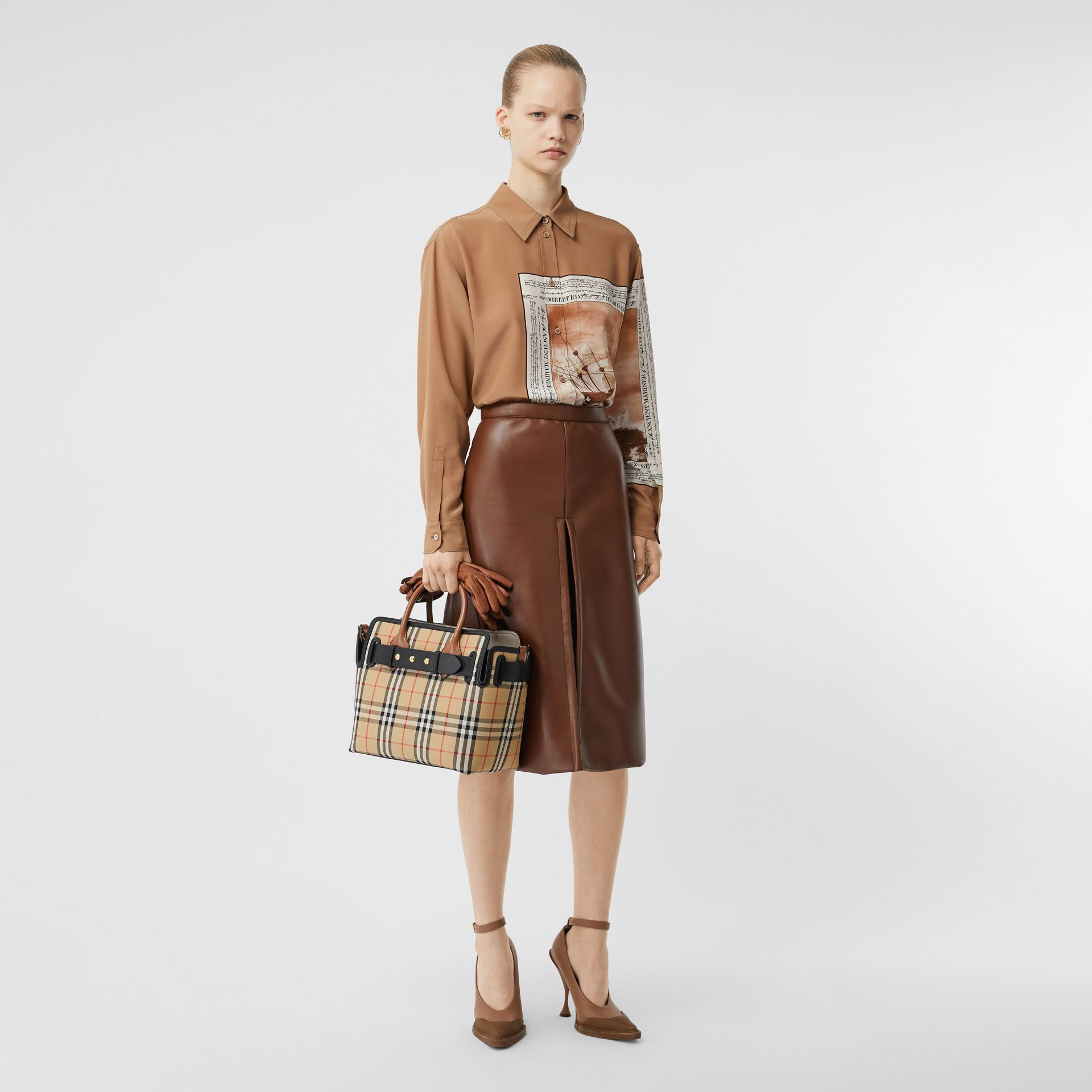 The Small Belt Bag mit Vintage Check-Muster und drei Ziernieten (Vintage-beige) - Damen | Burberry - Galerie-Bild 5